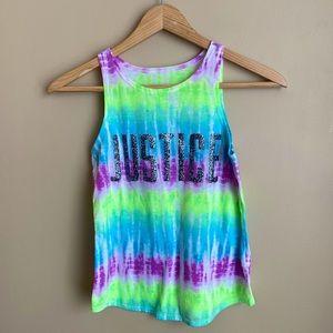 ❣️2/$20❣️Girl's sz 10 Justice tie dye tank top
